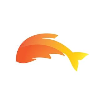 Fish logo template icon vector design