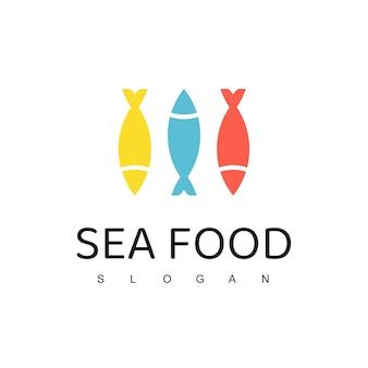 물고기 로고 템플릿, 해산물 레스토랑 상점 상점 로고
