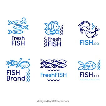 회사 브랜딩을위한 물고기 로고 모음