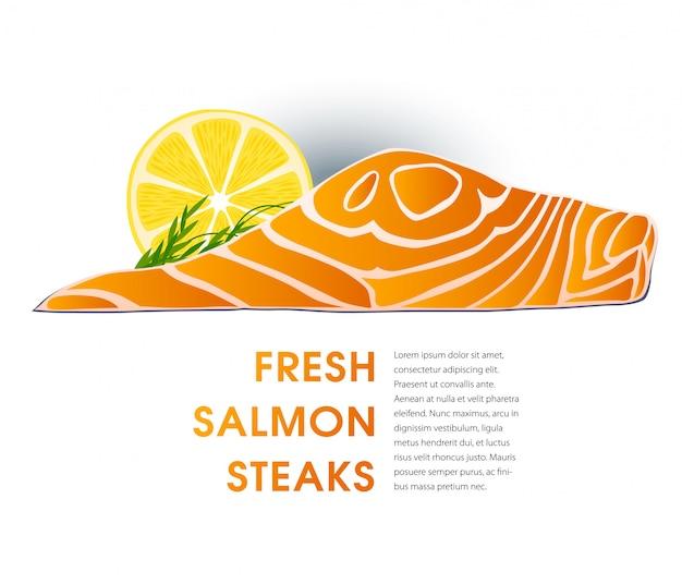 Fish market advertising label template.