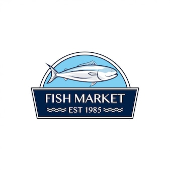 Fish market logo design