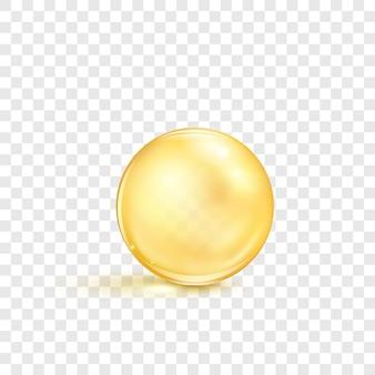 魚油の丸薬。栄養補助食品オメガ3を含む透明なカプセル。