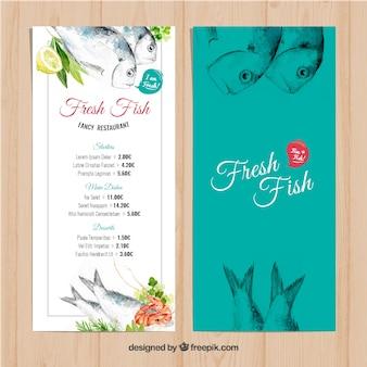 Fish resturant menu
