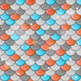 Fish scale seamless pattern background