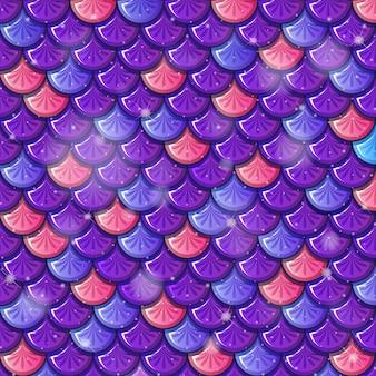 魚の鱗のシームレスなパターンの背景