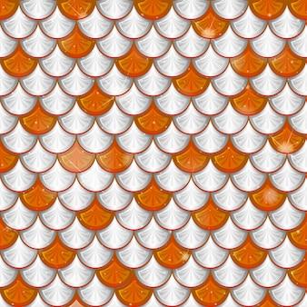 Fish scale seamless pattern background