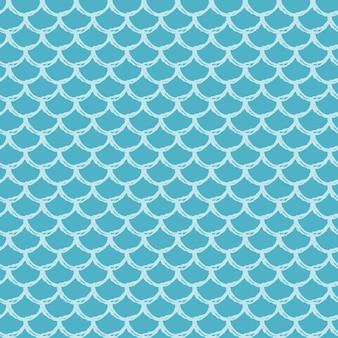 물고기 규모 완벽 한 패턴입니다. 파충류, 용 피부 질감. 직물, 섬유 디자인, 포장지, 수영복 또는 벽지를 위한 경작 가능한 배경. 수중 물고기 비늘이 있는 파란색 인어 꼬리.