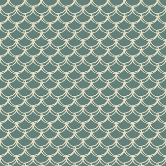 Fish scale seamless pattern. reptile, dragon skin texture. tillable background for your fabric, textile design, wrapping paper, swimwear or wallpaper. blue mermaid tail with fish scale underwater.