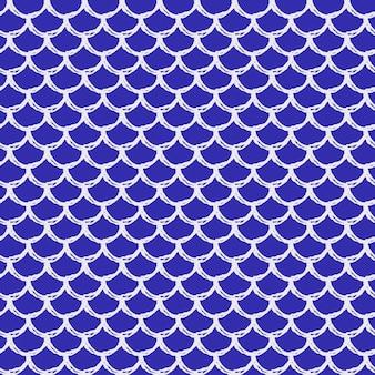 魚の鱗のシームレスなパターン。