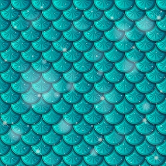 Fish scale seamless pattern Free Vector