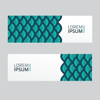 Fish scales banner collection