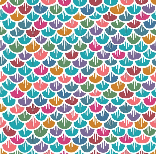 Fish scales seamless pattern colorful background of fish skin