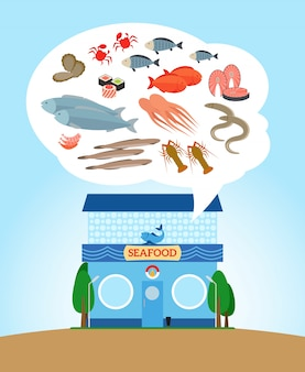 Fish and seafood store