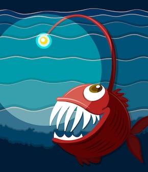 海の下で泳ぐ魚