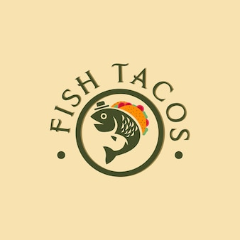 Иллюстрация дизайна логотипа рыбных тако