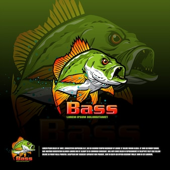 Fish team logo template