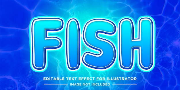Fish and water style editable text effect