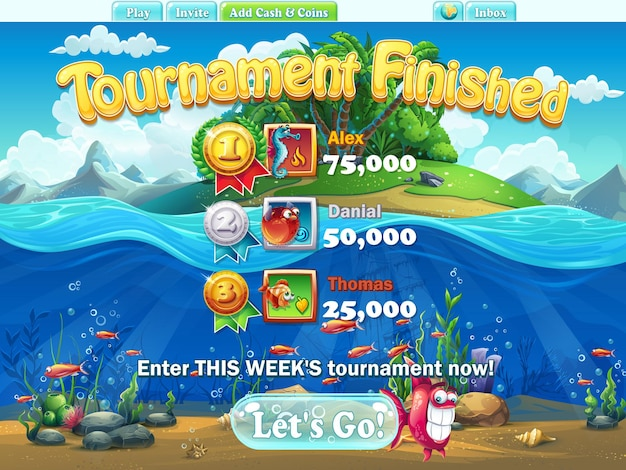 Fish world-컴퓨터, 웹 게임 토너먼트 종료
