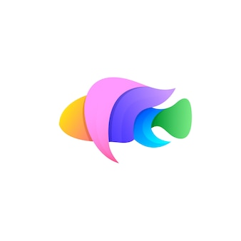 Дизайн логотипа fish