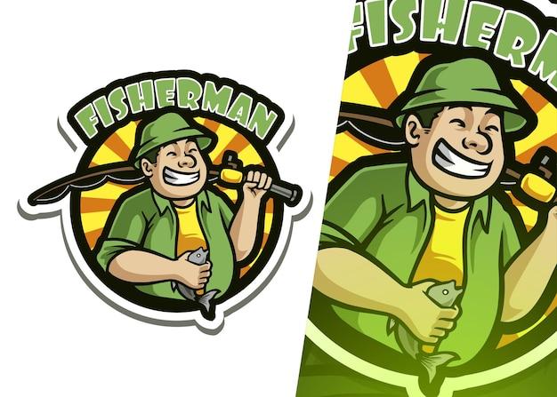 Логотип талисмана рыбака