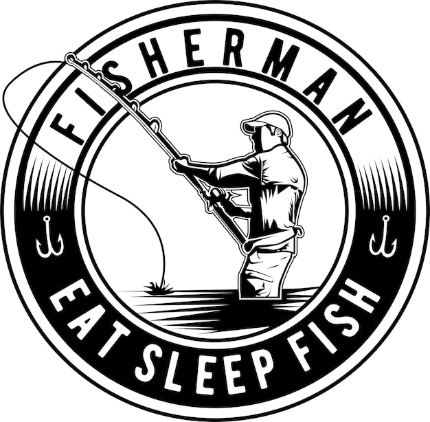 漁師のシルエット