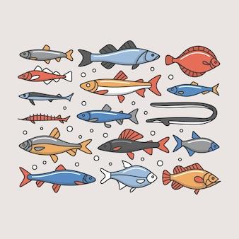 Рыбы, иллюстрация