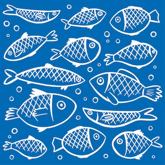 Fishes pattern background