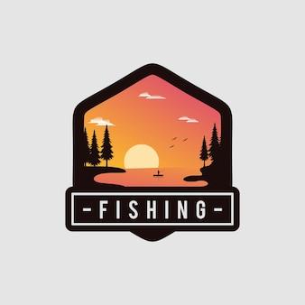 Fishing badge logo design