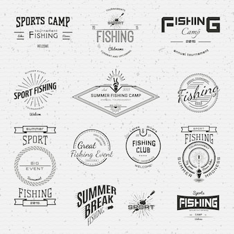 Fishing badges logos and labels for any use