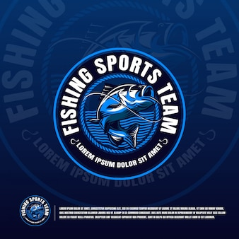 Fishing blue logo