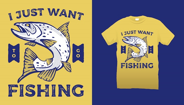 Fishing club t-shirt design