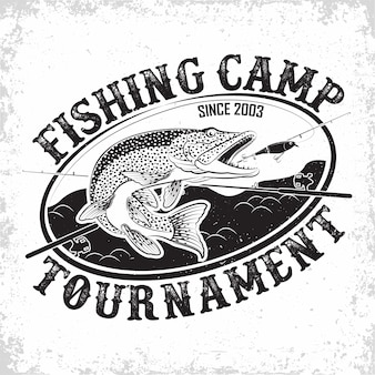 Fishing club vintage logo