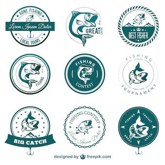 Fishing contest badges