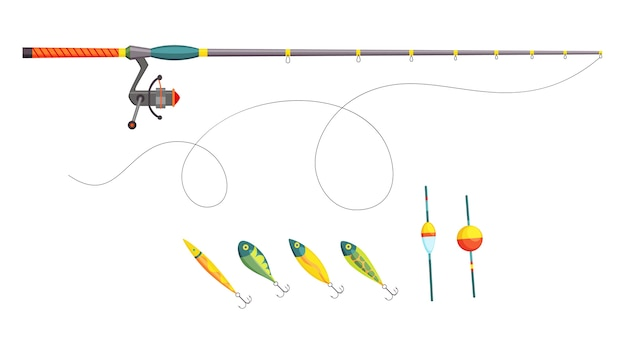 Fishing. fishing equipment. outdoor vacation.
