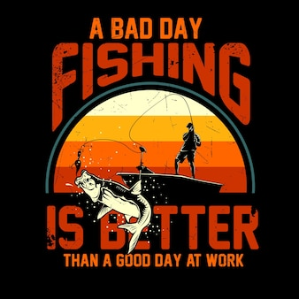 Fishing illustration for t shirt graphic
