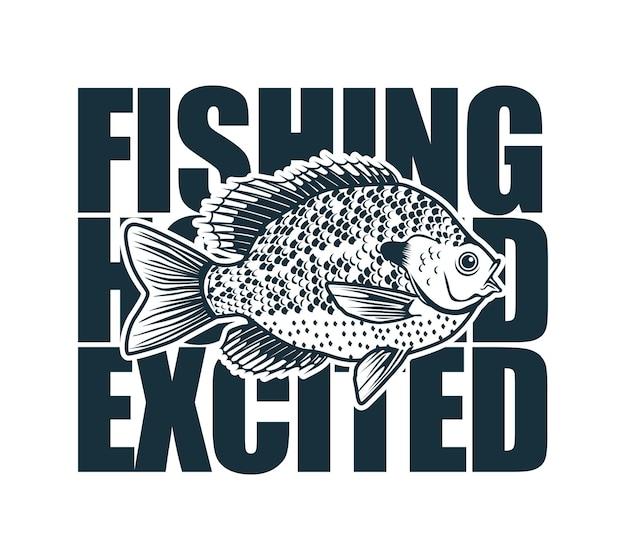 ロゴやtシャツの印刷に適したフックとルーズストリングの釣りイラスト