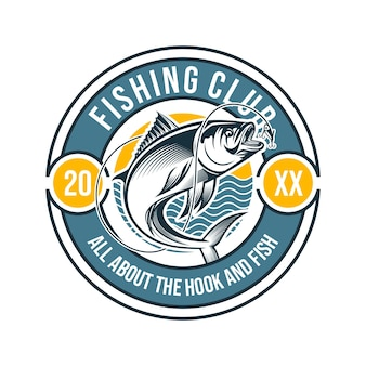 Fishing illustration with hook and loose strings suitable for logos and t-shirt printing