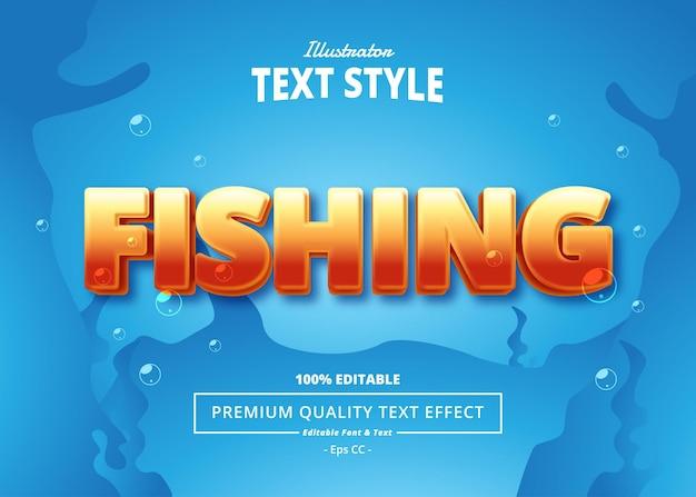 Fishing illustrator text effect