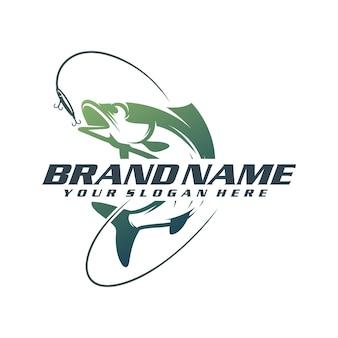 Шаблон логотипа рыбалки