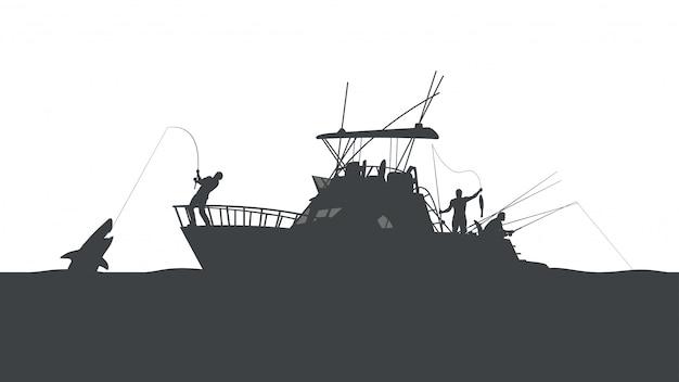 Fishing in ocean