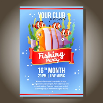 Fishing party with clown fish