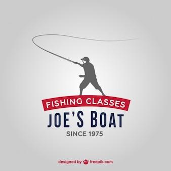 Fishing school logo Premium Vector