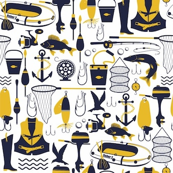 Fishing seamless pattern