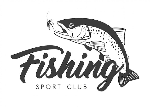 Fishing sport club logo