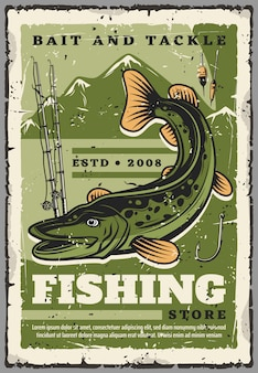 Fishing store, fisher baits and fish tackles