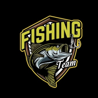 Fishing team logo template
