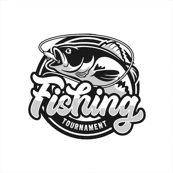 Fishing tournament logo
