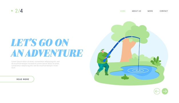 Fishman have good catch landing page template