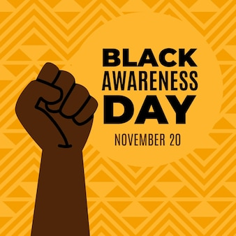 Fist in the air black awareness day