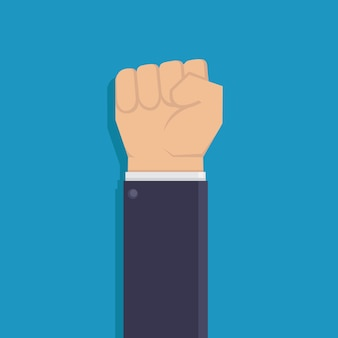 Fist hand flat design vector illustration